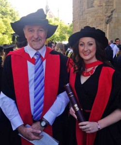 Brooke Ryan with Prof. Mike McLaughlin
